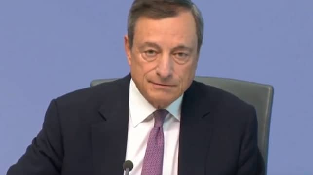 """Nicolas Chéron: """"Les analystes attendent 100 à 300 milliards de stimulus de la BCE. Qu'annoncera Mario Draghi avant de tirer sa révérence ?"""""""