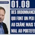 Philippe Béchade: Séance du 01/09/17: Des ordonnances qui font un peu mal au crâne mais très mal au portefeuille…