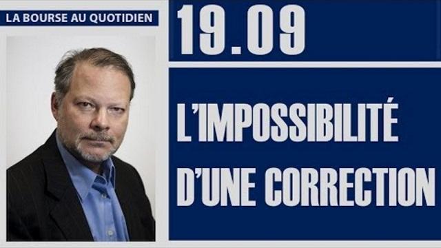 """Philippe Béchade: Séance du Mardi 19 Septembre 2017: """"L'impossibilité d'une correction"""""""