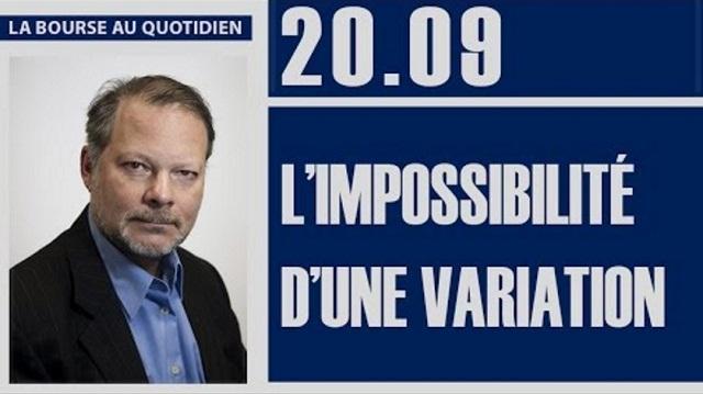 Philippe Béchade: Séance du Mercredi 20 Septembre 2017: « L