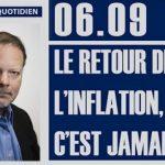 Philippe Béchade: Séance du Mercredi 06 Septembre 2017: «Le retour de l'inflation, c'est jamais !»