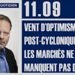 """Philippe Béchade: Séance du 11/09/17: """"Vent d'optimisme post-cyclonique, les marchés ne manquent pas d'air…"""""""