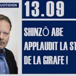Philippe Béchade: Séance du Mercredi 13 Septembre 2017: «Shinzō Abe applaudit la stratégie de la girafe !»