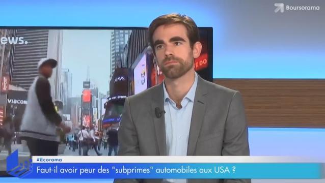 """Faut-il avoir peur des """"subprime"""" automobiles aux USA ?... Avec Pierre Sabatier"""