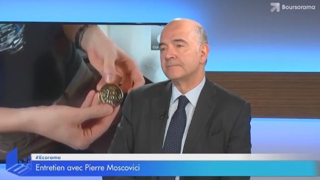 """Pierre Moscovici: """"Le Bitcoin est un phénomène exagérément exubérant"""""""