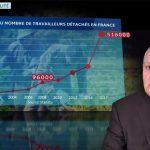 """François Asselineau: """"En 2008, les travailleurs détachés étaient 96.000 en France, ils sont désormais… 516.000 !"""""""