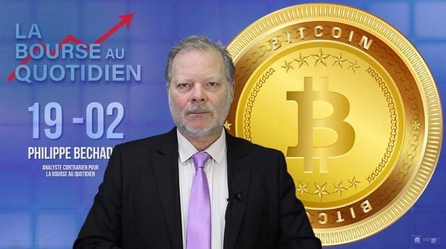 """Philippe Béchade: Séance du Lundi 19 Février 2018: """"Le DOW ou les Cryptos ?"""""""