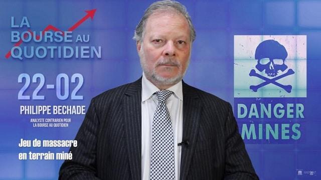 """Philippe Béchade: Séance du jeudi 22 Février 2018: """"Jeu de massacre en terrain miné"""""""