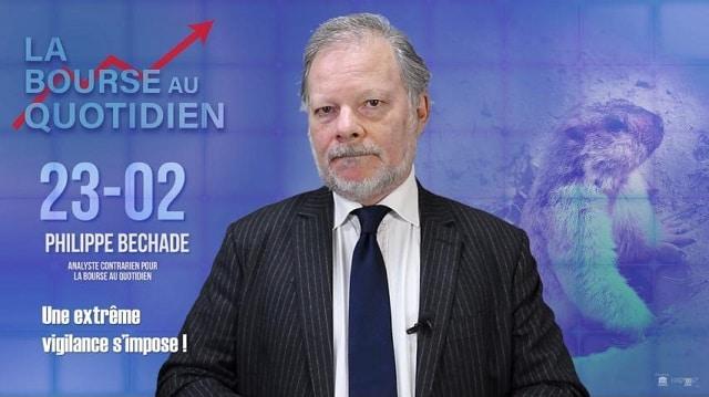 """Philippe Béchade: Séance du Vendredi 23 Février 2018: """"Une extrême vigilance s'impose !"""""""