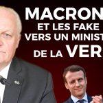 """François Asselineau: Fake News: """"Alors s'il y a quelqu'un qui ferait mieux de se taire, c'est Mr Macron lui-même !"""""""