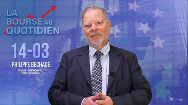 """Philippe Béchade - Séance du 14 Mars 2018: """"Les trois """"P"""" de la BCE, ça ne vaut pas un pet de lapin !"""""""