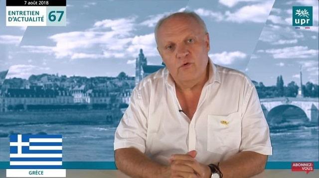 """François Asselineau: """"La Grèce se trouve très durablement dans une situation d"""