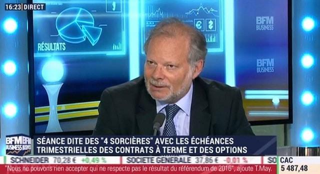 """Philippe Béchade: """"Pour le S&P, on a observé de tels multiples que 2 fois dans l"""