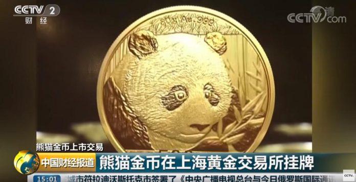 La pièce d'or Panda devient la première à être cotée en Bourse