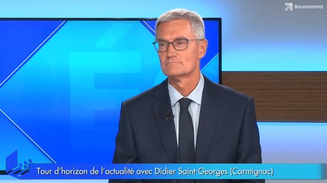 """Didier Saint-Georges: """"La prochaine crise viendra d"""