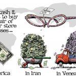 Voici l'argent qu'il faut sortir en devise Iranienne et Vénézuélienne pour s'offrir une paire de lunettes d'1 dollar