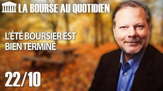 """Philippe Béchade – Séance du Lundi 22 octobre 2018: """"L"""