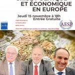 Amiens – 15/11/18: Conférence sur la crise politique et économique en Europe. Avec Charles Gave, Olivier Delamarche et Philippe Béchade