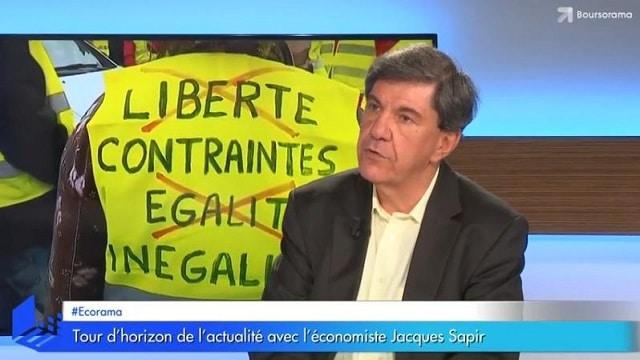 """Jacques Sapir: """"Il y a chez les gilets jaunes un fort sentiment d"""
