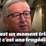 """Début de la fin de l'U.E ? La signature de l'accord sur le Brexit est un moment triste et une """"tragédie"""" selon Juncker"""