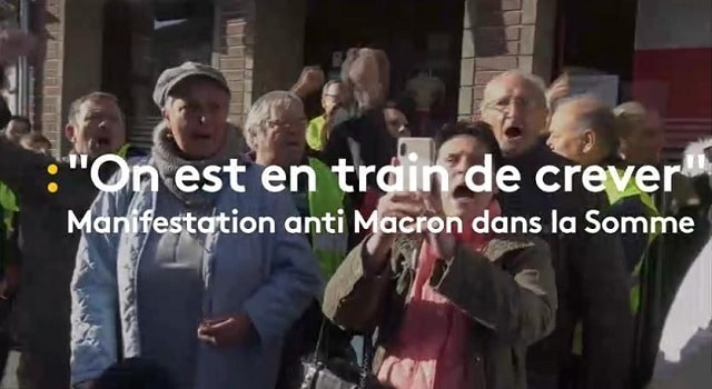 """On est en train de crever"": des manifestants tentent d"