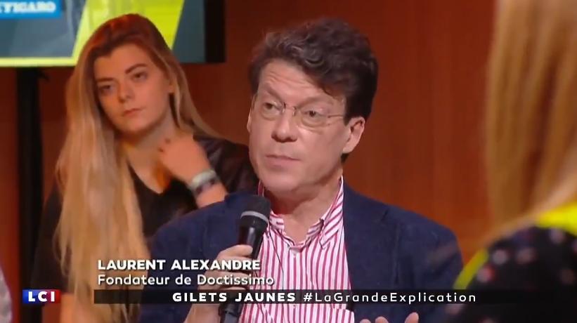 """Laurent Alexandre: """"En France, on gagnait autant que les suisses en 1974. Aujourd"""