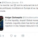 """Nicolas Chéron: """"Il est impossible de normaliser les politiques monétaires en Europe et au Japon sans que le château de cartes ne s'écroule."""""""
