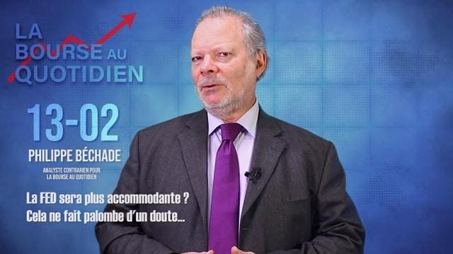 """Philippe Béchade – Séance du Mercredi 13 Février 2019: """"La FED sera plus accommodante ? Cela ne fait palombe d"""