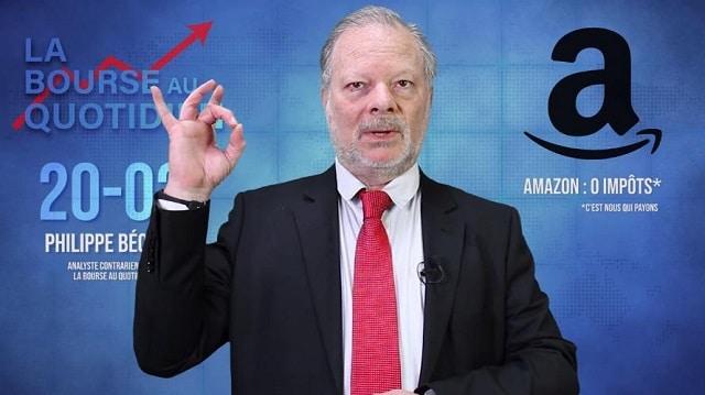 """Philippe Béchade – Séance du 20/02/19: """"Mais qui peut être assez idiot pour payer des impôts ?... En tout cas, pas AMAZON !"""""""