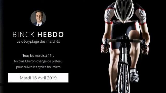 "Nicolas Chéron – Binck Hebdo spécial Binck Trading Day - 16 avril 2019"""