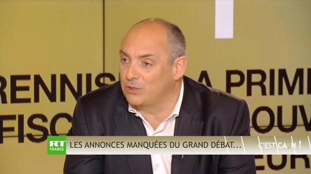 """Olivier Delamarche: """"Aujourd'hui dans C'EST CASH,… les annonces manquées du Grand Débat et premier bilan de Macron après 2 ans de quinquennat !"""""""