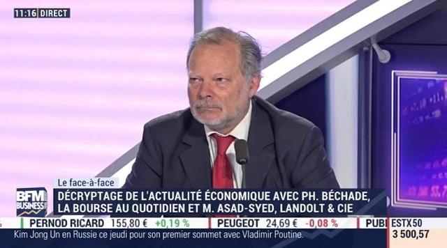"""Philippe Béchade: """"On paie le marché plus cher avec une croissance inférieur de 20% aux prévisions. Tout va bien !"""""""