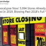 USA: L'effondrement du commerce de détail s'accélère. Les 5 994 fermetures déjà annoncées en 2019 pulvérisent le record enregistré sur l'ensemble de l'année 2018