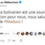 """Jean-Luc Mélenchon: """"Venezuela bolivarien est une source d'inspiration pour nous, nous saluons la victoire de Maduro !"""""""