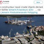 Le constructeur naval croate Uljanik déclaré en faillite !! 1 000 licenciements attendus.