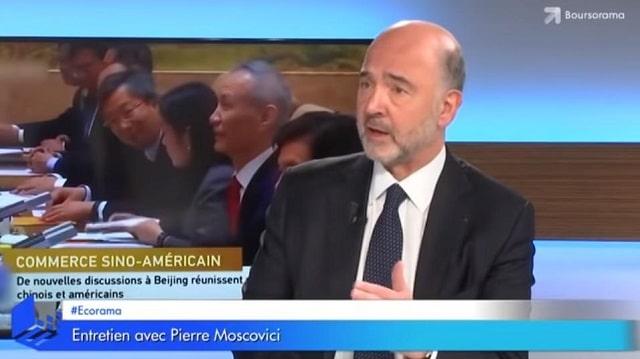 """Pierre Moscovici: """"Dans cette guerre commerciale ce sont nous les européens qui souffrons le plus !"""""""
