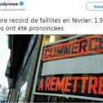 """Belgique: """"Nombre record de faillites en février: 1.916 faillites ont été prononcées sur les deux premiers mois de l'année !!"""""""