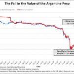 Le plongeon du Peso Argentin se poursuit. Il faut désormais 46 pesos argentins pour 1 dollar !!