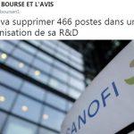 Sanofi va supprimer 466 postes dans une réorganisation de sa R&D