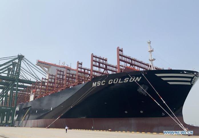 Le plus grand porte-conteneurs du monde avec presque… 24 000 conteneurs !