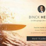 """Nicolas Chéron – Binck Hebdo du Mardi 16 Juillet 2019: """"Préconisations estivales """""""