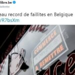 """Belgique: Nombre record de faillites au 1er semestre 2019: 6.218 faillites ont été prononcées sur les 6 premiers mois de l'année !!"""""""