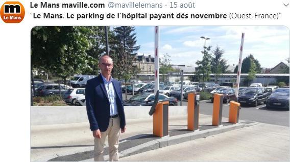 Le Mans: Le parking de l'hôpital payant dès novembre !