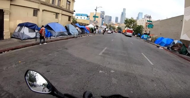 This is it, the power of the US economy is out in the street… This is not a Third World town, this is the city center of Los Angeles.