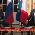 Macron reçoit Poutine et appelle au respect de la liberté de manifestation, d'expression, d'opinion…