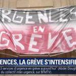 France: 213 services d'urgence sont désormais en grève, soit le double par rapport à juin dernier