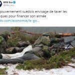 Le gouvernement suédois envisage de taxer les banques pour financer son armée