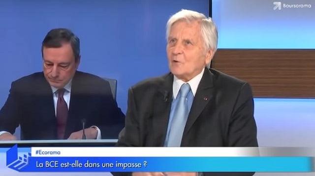 """Jean-Claude Trichet: """"Si le QE (Planche à billets) est éternel alors la situation est dramatique"""""""