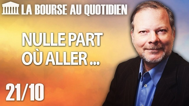 """Philippe Béchade – Séance du Lundi 21 Octobre 2019: """"Nulle part où aller ..."""""""