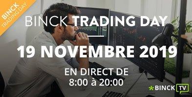"""Le Binck Trading Day - 19 Novembre 2019: """"La plus importante conférence de bourse en ligne est de retour !"""""""
